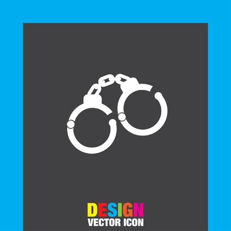 arrest: handcuffs vector icon Illustration