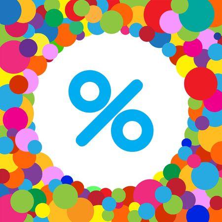 prozentzeichen: percent sign vector icon