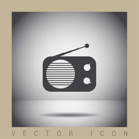 fm: radio vector icon