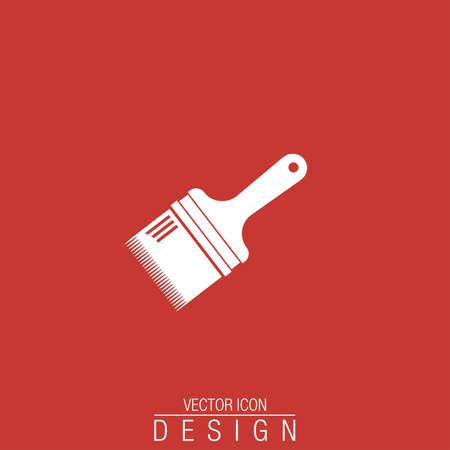 decorating: paint brush flat vector icon