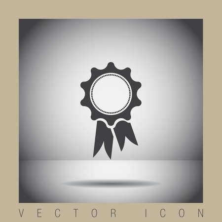 ribbon: award ribbon vector icon