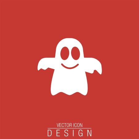 cute ghost: ghost vector icon