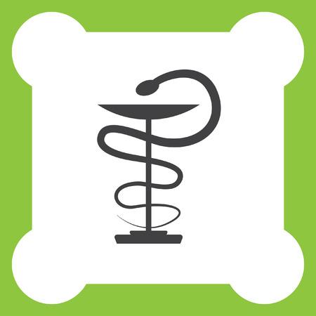 pharmacy symbol: pharmacy snake symbol vector icon
