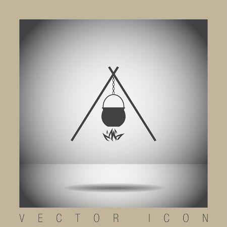 caldron: cauldron vector icon