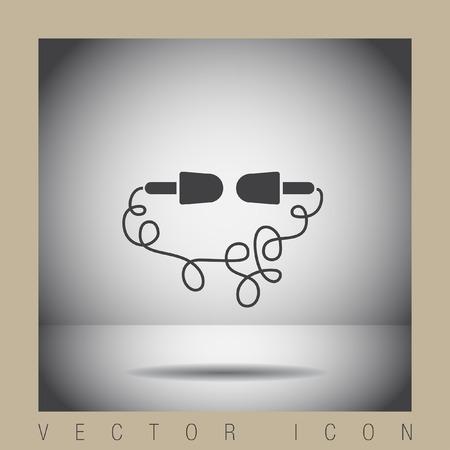 earbud: headphones vector icon