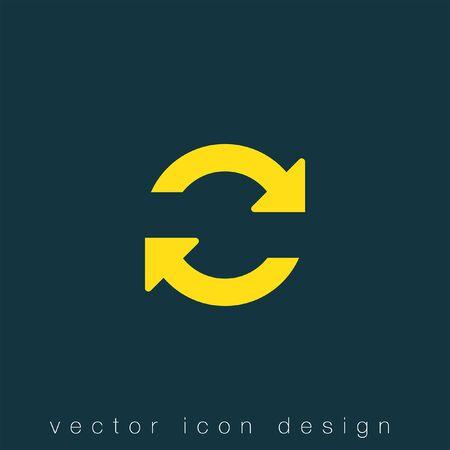 refresh vector icon Illustration