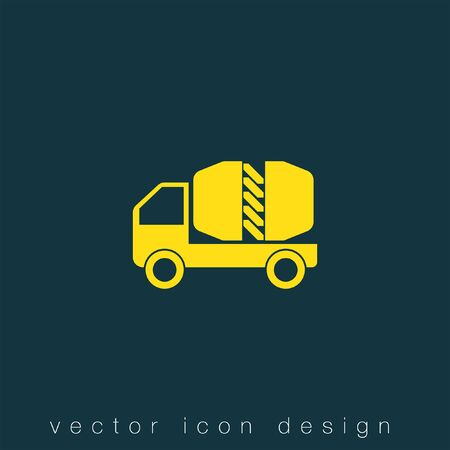 시멘트: cement truck vector icon