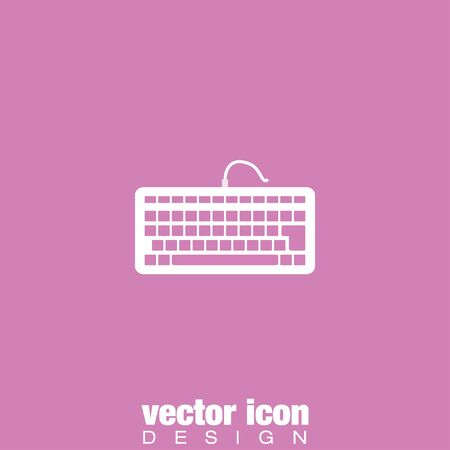 computer technology background: keyboard vector icon Illustration