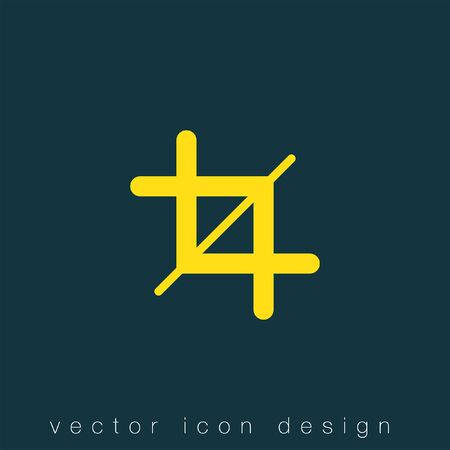 crop sign vector icon Illustration