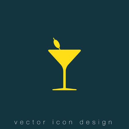 cocktail drinks: cocktail glass vector icon