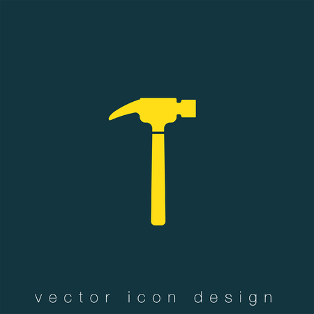 construction equipment: hammer vector icon