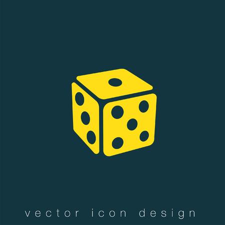 dice: gambling dice vector icon