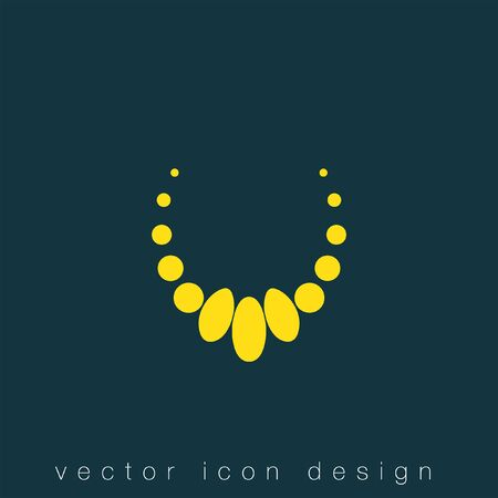 peal: necklace vector icon Illustration