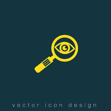 lupa: lupa y el icono del vector del ojo Vectores