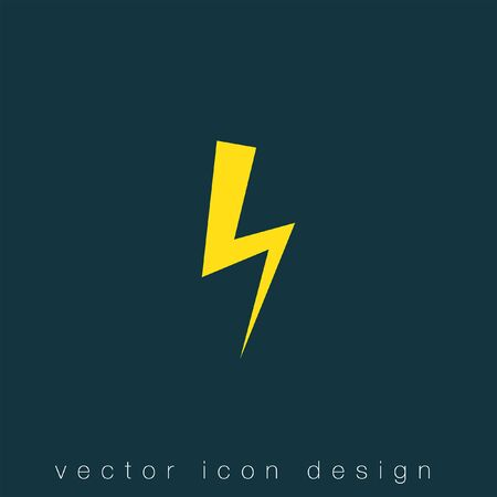 with sets of elements: bolt vector icon