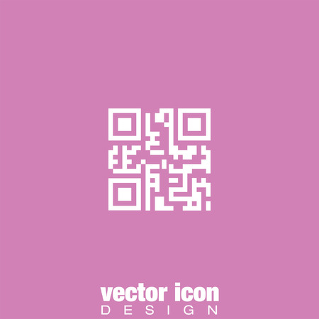 technology icon: qr code vector icon