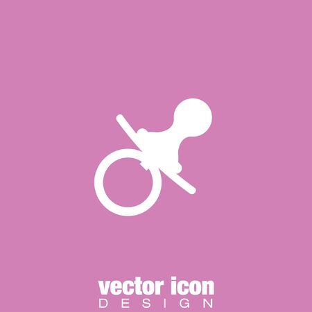 pacifier: pacifier nipple vector icon