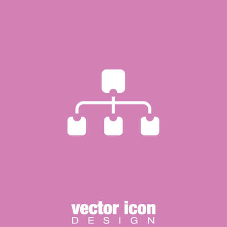 business sign: site map vector icon