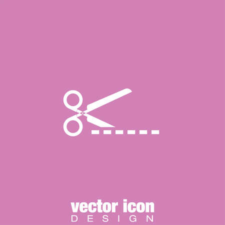 ribbon cutting: scissors cut vector icon