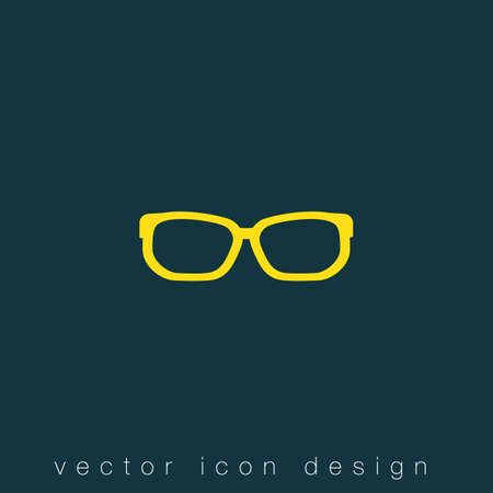 vintage fashion: glasses vector icon
