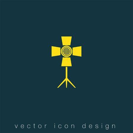 simbolo: faretto vector icon Vettoriali