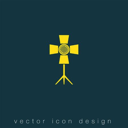 and symbol: spotlight vector icon