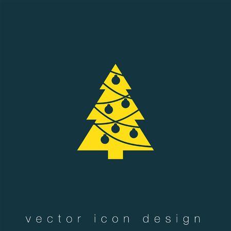 christmas tree vector icon Illustration