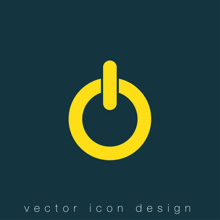 power button: power button vector icon