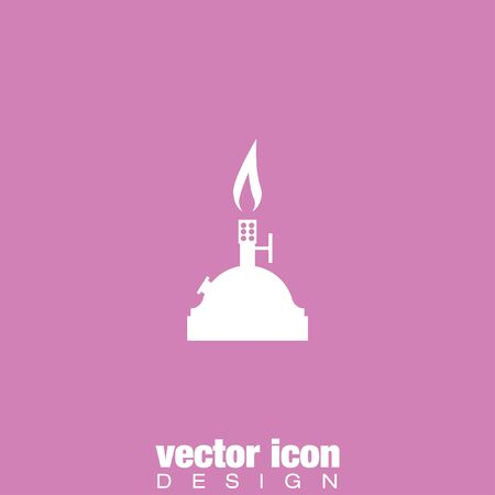 bunsen burner: laboratory burner vector icon