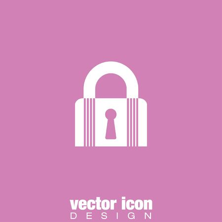 isolated  background: lock closet state vector icon Illustration