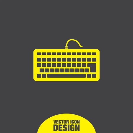 pc icon: keyboard vector icon Illustration