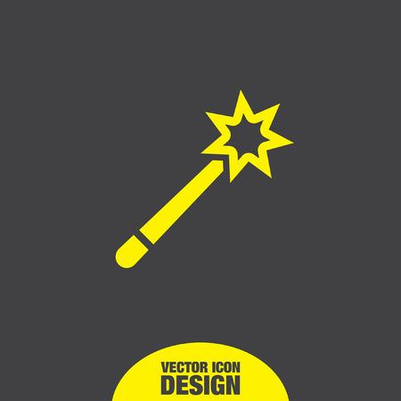 magic wand: magic wand vector icon