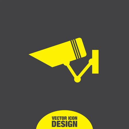 security icon: security surveillance camera vector icon Illustration