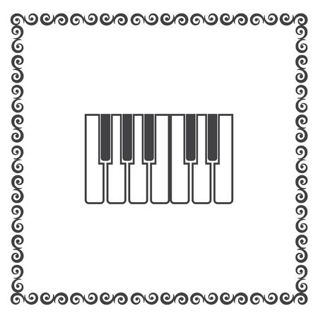 octave: piano keys icon