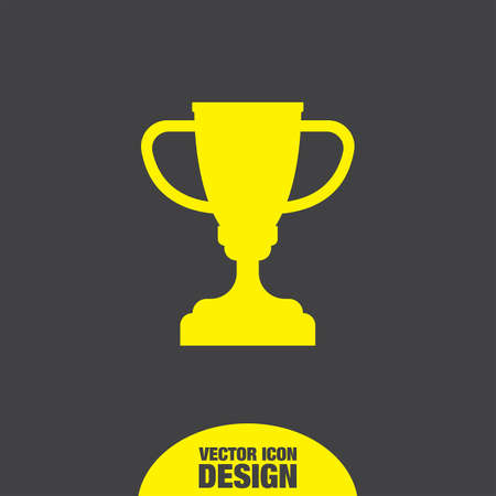 trophy cup: champions trophy cup vector icon