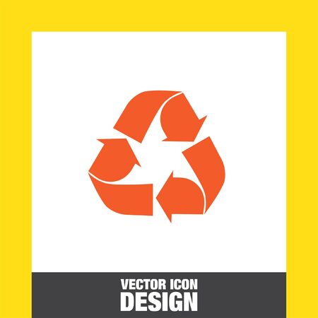 recycle icon: recycle vector icon Illustration