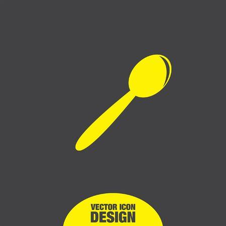 tablespoon: spoon vector icon Illustration