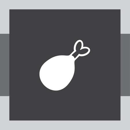 a leg: chicken leg vector icon Illustration