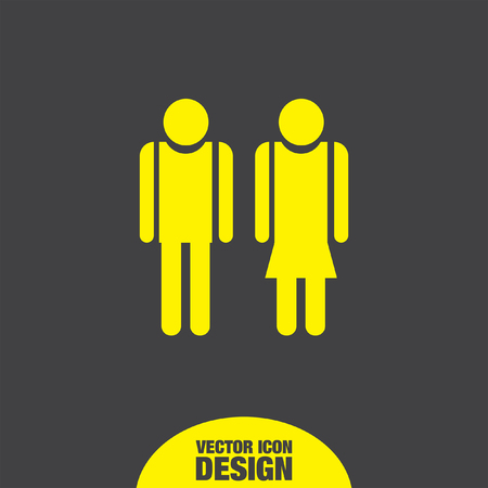 male silhouette: man and woman vector icon