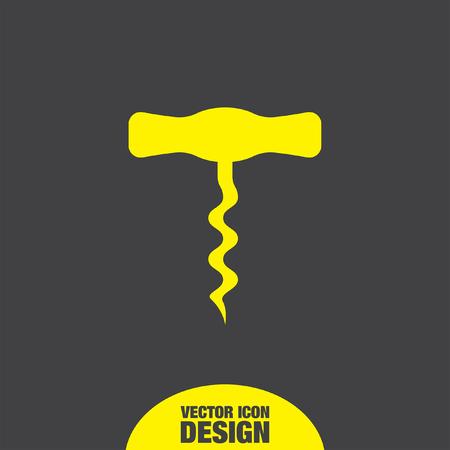 bottle screw: corkscrew vector icon