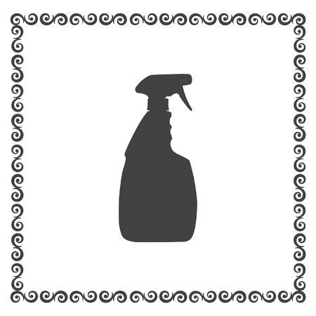 cleanliness: household cleaning bottle vector