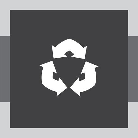 fl�che double: double arrow sign vector icon
