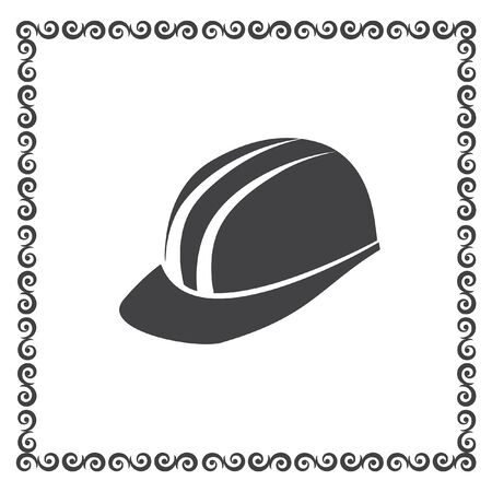 protective: protective helmet vector icon Illustration
