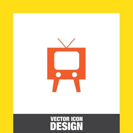 old television: television symbol vector icon