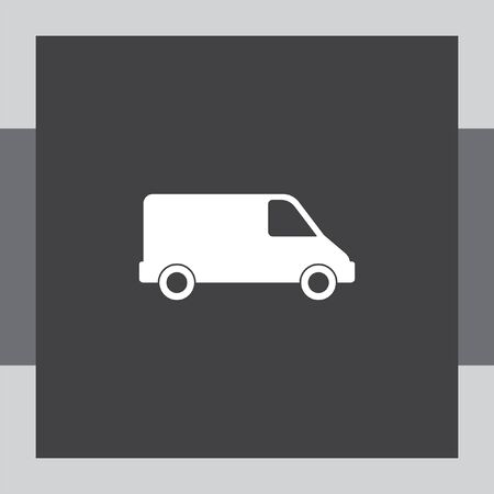 delivery icon: commercial van vector icon