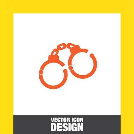 detainee: handcuffs vector icon Illustration