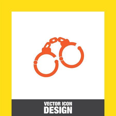 handcuffs: handcuffs vector icon Illustration