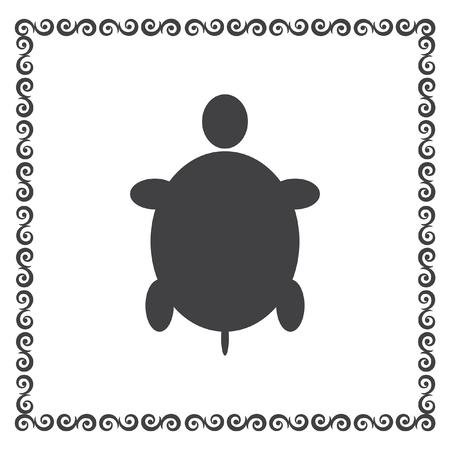 schildkröte: Schildkröte Vektor-Icon-