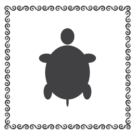 turtle: turtle vector icon Illustration