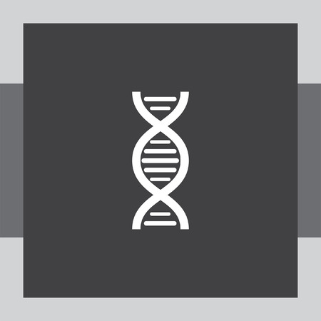 genome: dna chain vector icon Illustration